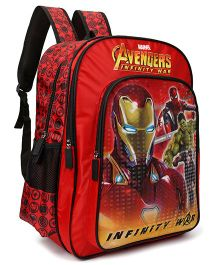 Marvel Avengers Inifinity War School Bag Red - 16 inches