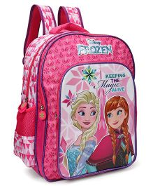 Disney Frozen School Bag Pink Purple - 16 inches