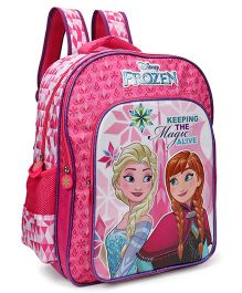 Disney Frozen School Bag Pink Purple - 18 inches