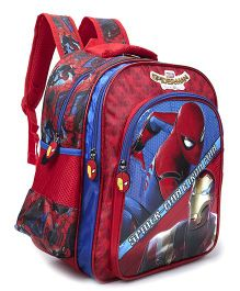 Marvel Spiderman & Ironman School Bag Blue Red - 16 inches