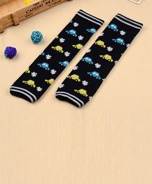 Milonee Cute Car Print Legwarmer - Black