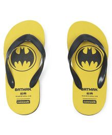 Cute Walk by Babyhug Flip Flops Batman Print - Yellow