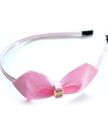Pretty Ponytails Glitter Bow Hairband - Pink