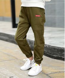 Pre Order - Awabox Smart Plain Pants - Olive Green
