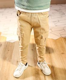 Pre Order - Awabox Plain Side Pockets Pants - Khaki