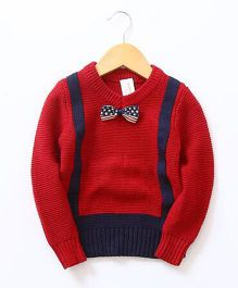 2 Footya Bow Design Sweater - Red
