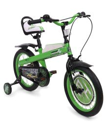 Hotwheels Bicycle With Bell - Green & Black