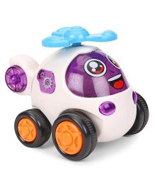 Smiles Creation Helicopter Toy - Purple And White