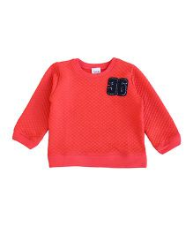 Happy Kids Number Print Sweatshirt - Orange