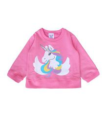 Happy Kids Unicorn Print Sweatshirt - Pink