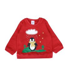Happy Kids Penguin Sweatshirt - Red