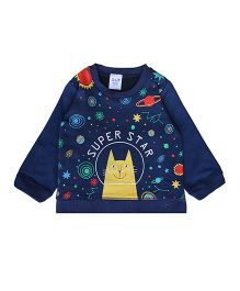 Happy Kids Space Print Sweatshirt - Navy