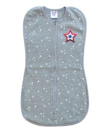 Happy Kids Big Star Applique Swaddle - Grey