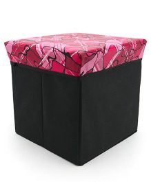 Foldable Storage Box Cum Stool (Color & Design May Vary)