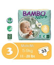 Bambo Nature Diapers Midi - 33 Pieces