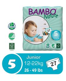 Bambo Nature Diapers Junior - 27 Pieces