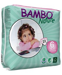 Bambo Nature Diapers Extra Large - 22 Pieces