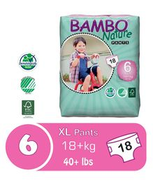 Bambo Nature Diapers Extra Large - 18 Pieces