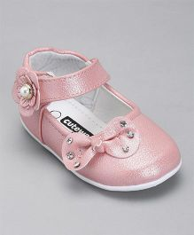 Cute Walk By Babyhug Bow Applique Bellies - Light Pink