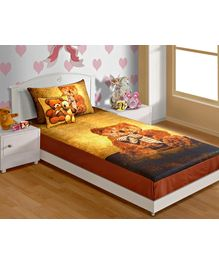 Swayam - Bear Print Baby Bed Sheet