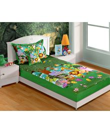 Swayam - Jungle Print Bed Sheet