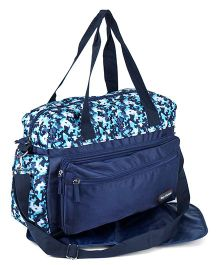 Diaper Bag With Changing Mat Baby Kingdom Design - Navy