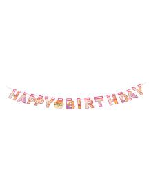 Karmallys Happy Birthday Die Cut Banner - Pink