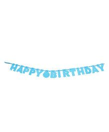 Karmallys Happy Birthday Die Cut Banner Polka Dots Print - Blue