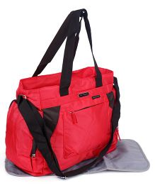 Diaper Bag With Changing Mat - Red