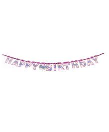 Karmallys Happy Birthday Die Cut Banner Star Print - Purple