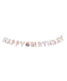 Karmallys Happy Birthday Die Cut Banner Balloon Print - Brown