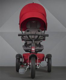 Bentley Tricycle With Canopy & Footrest - Dark Red
