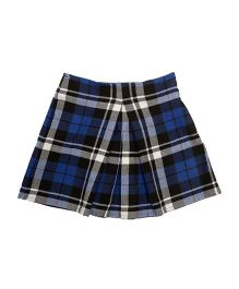 Kidofy Inverse Box Pleated Check Skirt - Blue