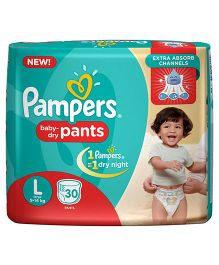 Pampers Pant Style Diapers Large - 30 Pieces