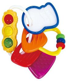 Ole Baby Silicone Teether Cum Rattle Toy With Light (Colour May Vary)