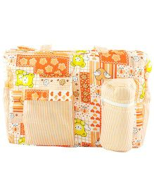 Ole Baby Multi Utility Diaper Bag Heart Print - Orange