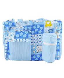 Ole Baby Multi Utility Diaper Bag Heart Print - Blue