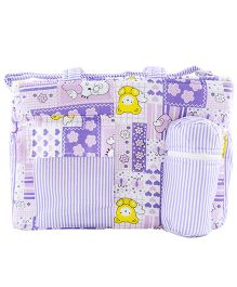 Ole Baby Multi Utility Diaper Bag Heart Print - Purple