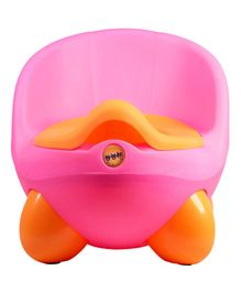 Ole Baby Potty Trainer Chair - Dark Pink & Yellow