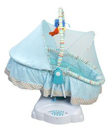 Kiwi Electronic Cradle With Mosquito Net - Light Blue