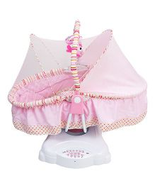 Kiwi Electronic Cradle With Mosquito Net - Light Pink