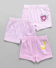 Ohms Shorts Pack of 3 - Light Violet