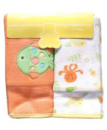 Owen Thermal Blankets Octopus Print Pack of 2 - Orange