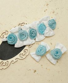 D'chica Chic Hair Accessories Set - White & Blue