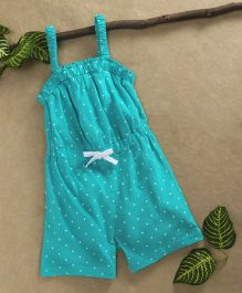 Babyhug Singlet Knitted Jumpsuit Star Print - Turquoise