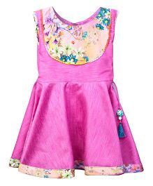 Lilpicks Couture Frilly Kurta - Pink
