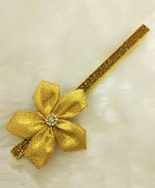Magic Needles Pretty Headband With A Flower - Gold