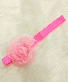 Magic Needles Pretty Headband With A Flower - Pink