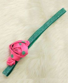 Magic Needles Cute Headband With Roses - Green