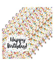 Celebration Essentials Luncheon Napkins Srinkle Design Pack of 16 - Multicolor